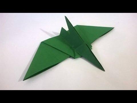 Como hacer un pterodactilo de papel Dinosaurio de Origami Audio