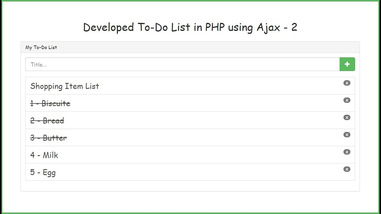 Developed To-Do List in PHP using Ajax - 2