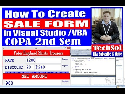 COPA 2nd SEM VBA SALE FORM,  EDUCATION NCVT