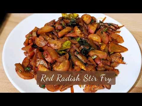 Quick & Simple Red Radish Stir Fry in 10 Minutes || Radish Fry Recipe
