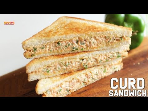 Curd Sandwich | Sandwich Recipe | Snack Recipes