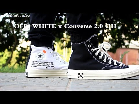 OFF WHITE x Converse OH SAMPLE ON FOOT YouTube