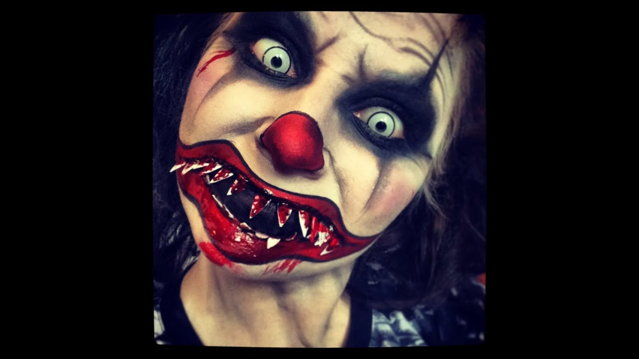 evil clown makeup tutorial youtube