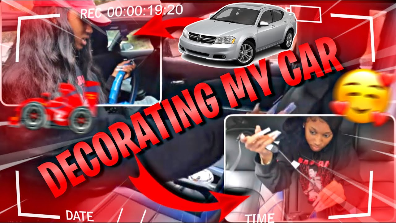 DECORATE MY NEW CAR W/ ME!!! PT.2 (Cleaning & Decorating My Baby ❤)