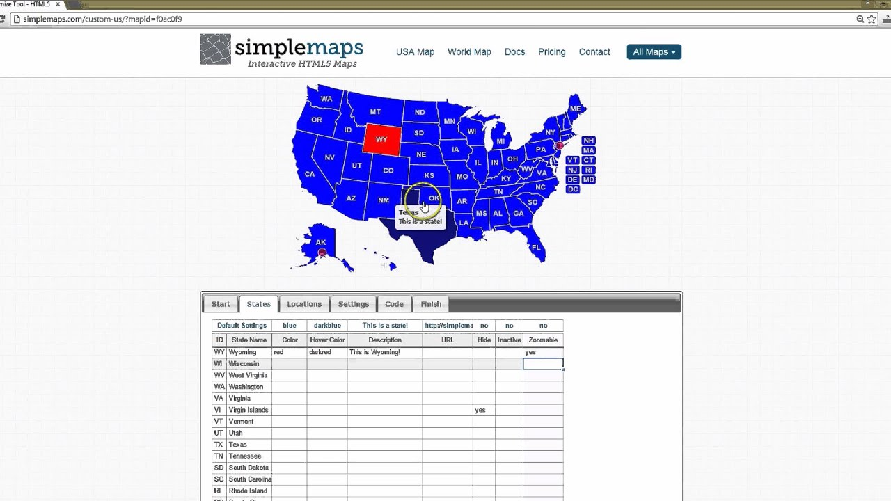 Tutorial Create An Interactive Usa Map With Simplemaps Youtube - Create-us-map-color-coded