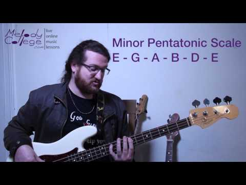 How to Create Awesome Bass lines - Minor Pentatonic Scale - Free Bass Lesson
