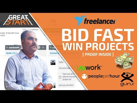 How to BID FAST on Freelancer websites and WIN PROJECTS | Proof Inside [Hindi]