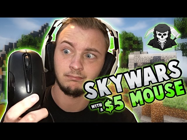 PLAYING WITH A $5 MOUSE?! [No HotKeys] ( Hypixel Skywars )
