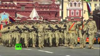 Солдаты Азербайджана на Красной Площади в Москве/Azerbaijani Army in Red Square in Moscow,Russia