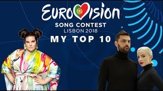 Eurovision 2018 : My top 10