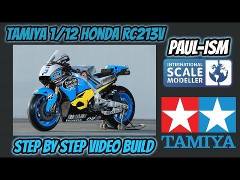 Tamiya 1/12 Honda Rc213v '14 Step by step Pre Build Review