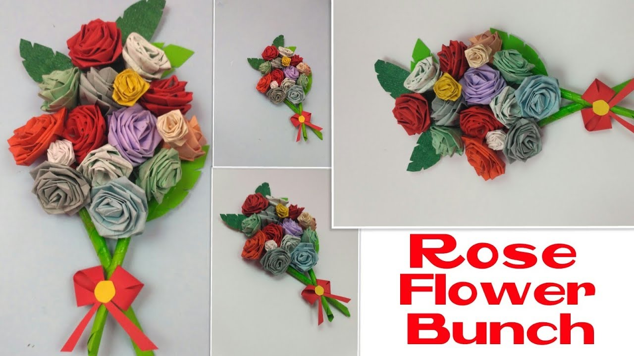 Diy Rose Flower Bunch For Greeting Cards Handmade Birthday Cards