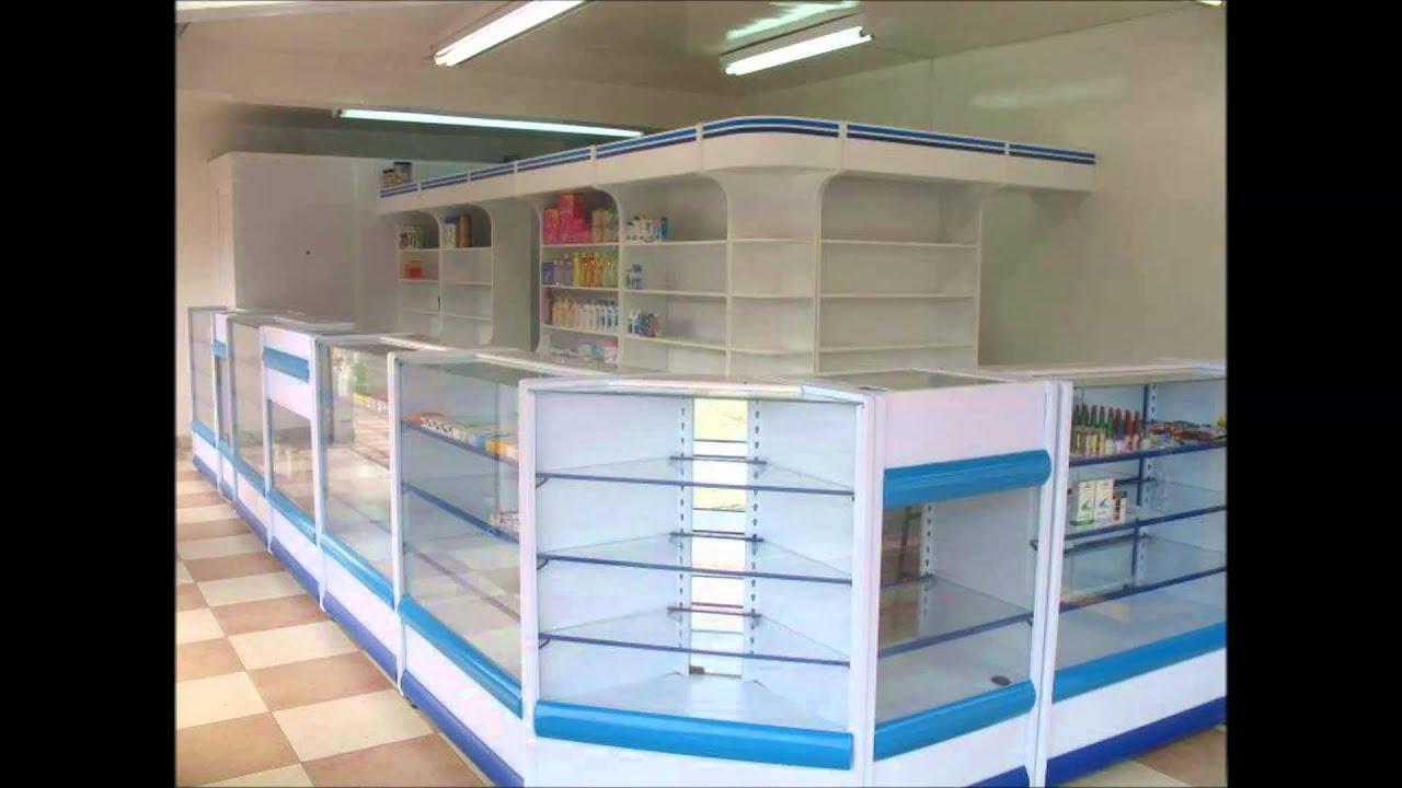 mobiliario para farmacias - YouTube