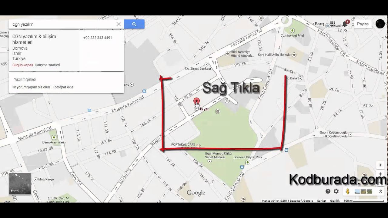Google Haritalar Konum Yönetimi ve Arama Demosu