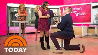 Gentleman Proposes To His Girlfriend Live On Kathie Lee And Hoda! | TODAY