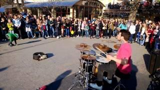 Одесса, 1 апреля 2017, уличные музыканты, street musicians, Бешеный Барабанщик Страдивари 12