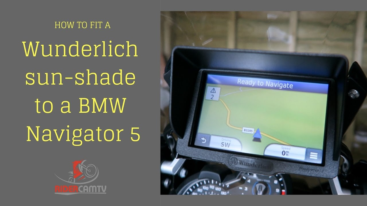 How to fit Wunderlich Navigator 5 Sun Shade to our BMW 1200 GS Adventure