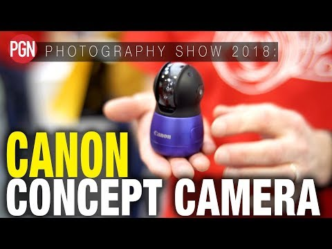 CANON CONCEPT CAMERA - New Canon prototype technology seen @ The Photography Show