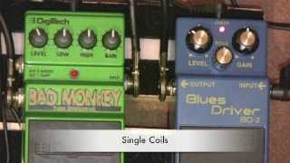 Digitech Bad Monkey Vs Boss Blues Driver Overdrive Pedal Shootout