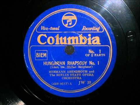 Hermann Abendroth - Liszt - Hungarian Rhapsody No.1