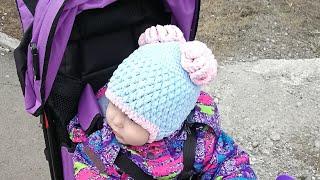 Шапка крючком из плюшевой пряжи/шапка крючком/шапка крючком с ушками/шапка для начинающих крючком