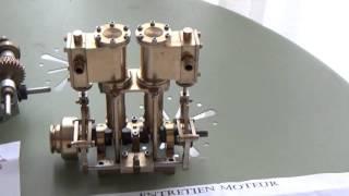 L'importance du rodage d'une machine à vapeur RC neuve - Généralités  / Marine steam engine