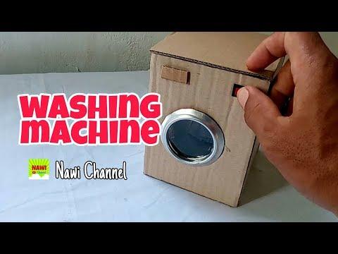 Cara Membuat Mesin Cuci Mainan Dari Kardus Diy Barbie By Nawi Channel