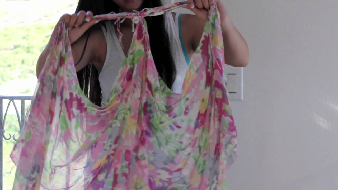 how to make silk scarf video