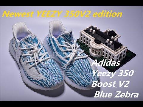 51edd00dec7a5 Newest yeezy 350v2 edition Adidas Yeezy Boost 350 V2 Blue Zebra ...