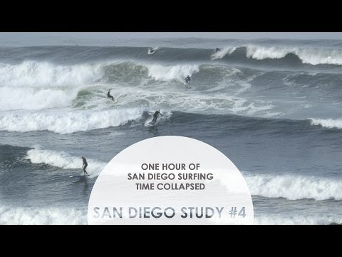One Hour of San Diego Surfing Time Collapsed: San Diego Study #4