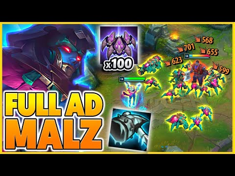 *FULL AD MALZAHAR* VOIDLINGS DESTORY EVERYONE (KILLER SWARMS) - BunnyFuFuu | League of Legends
