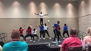 """First Place Nationals 2019 Fine Arts KT Human Video Large """"God Bless America"""""""