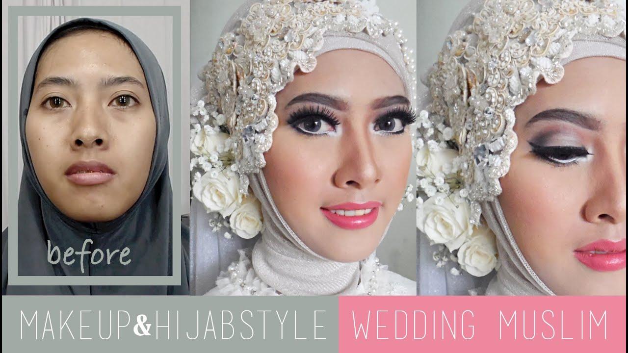 Tutorial Makeup Dan Hijabstyle Akad Nikah Wedding Muslim Modern