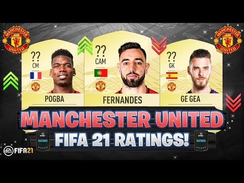 FIFA 21 | MANCHESTER UNITED PLAYER RATINGS! 😱🔥 | FT. BRUNO FERNANDES, POGBA, DE GEA... Etc