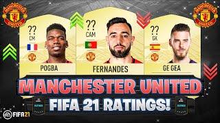 FIFA 21 | MANCHESTER UNITED PLAYER RATINGS! 😱🔥 | FT. BRUNO FERNANDES, POGBA, DE GEA... etc