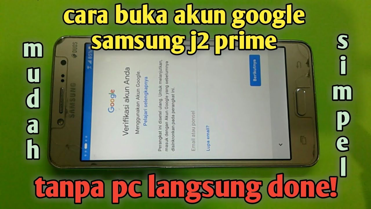 Samsung J2 Prime Lupa Akun Google Remove Frp Solution By Servis Hp