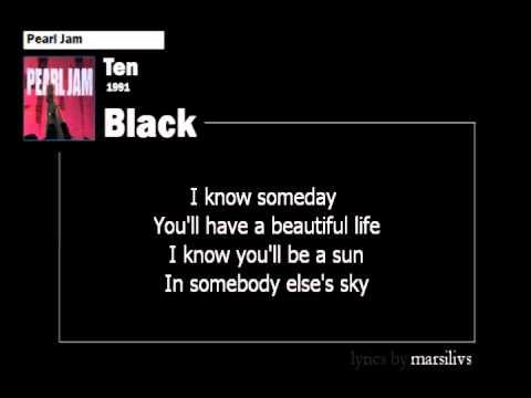 Pearl Jam - Black lyrics