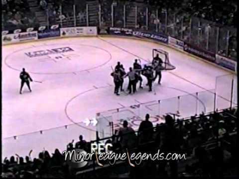 Jan 14, 2004 Jason Lawmaster vs Jeff Ewasko Muskegon Fury vs Rockford Icehogs UHL