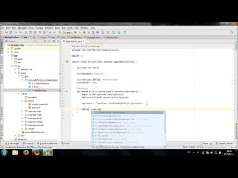 Working with Custom ListView in Android Studio