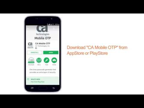 Generate OTP for Baroda Connect using CA Mobile OTP App