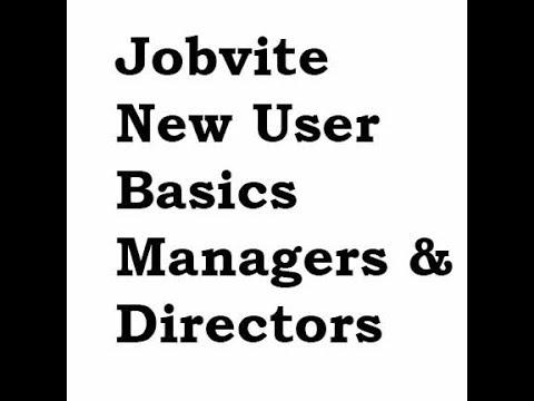 Jobvite New User Basics - Managers/Directors