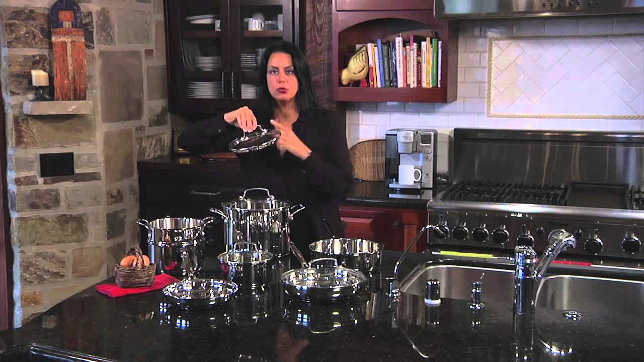 Cuisinart 11 Piece Chef S Classic Stainless Stainless Steel Cookware Set 77 11g Youtube