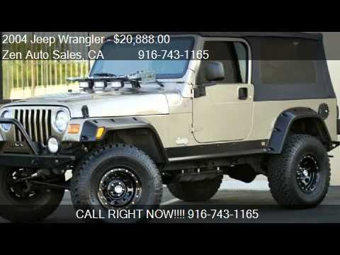 2004 Jeep Wrangler Unlimited Sport Lwb Custom For Sale