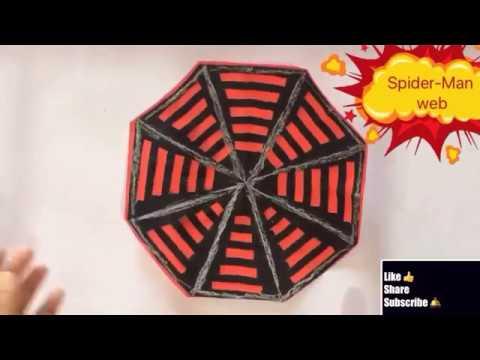 Spider man web theme birthday party decoration ideas/craft paper spider web/new year decoration 2019