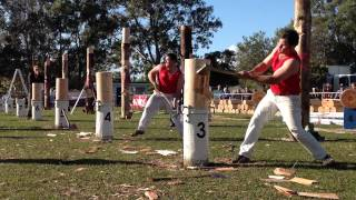 E Cook vs B Dingle Round 1 300mm QLD Standing Block Elimination Championship Redcliffe 2015