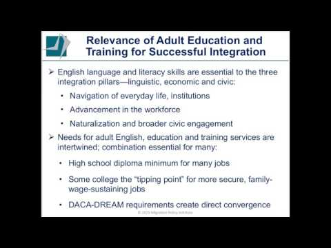 Adult Education English and Skills Training  Opportunities for Action and Investment