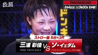 skyticket presents PANCRASE293 02.04スタジオコーストAbemaTV格闘チャンネルで15時30分から生中継! 三浦彩佳 検索動画 16