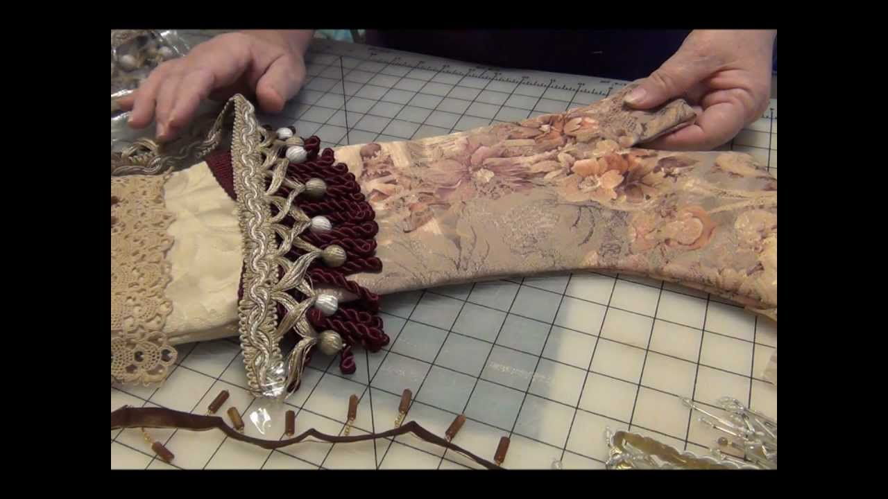 Victorian Christmas Stockings.How To Make A Very Fancy Victorian Christmas Stocking