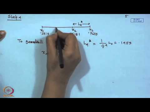 Mod-01 Lec-28 Golden Section Methods