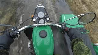 Мотоцикл Урал в грязь
